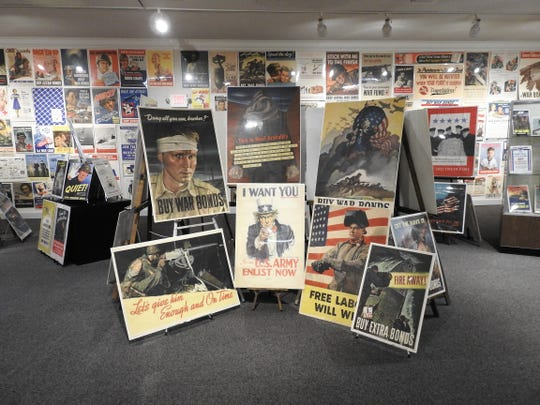An exhibit of more than 500 World War II posters from a private collector are in the Special Exhibit Gallery of the Johnson-Humrickhouse Museum. The exhibit will up through the end of the year and the museum is reopening to the public on Friday.
