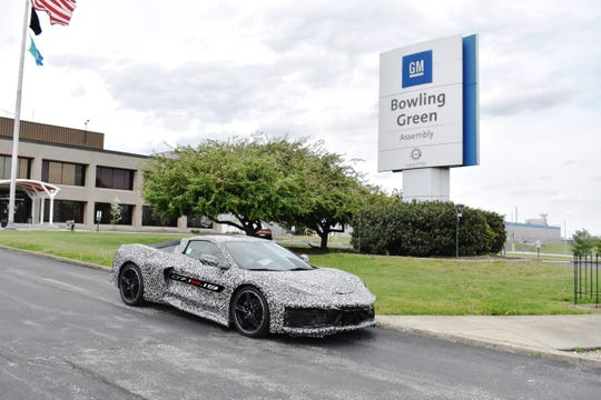 General Motors Bowling Green (Kentucky) Assembly plant builds the Next Generation Corvette, which will be revealed on July 18, 2019.