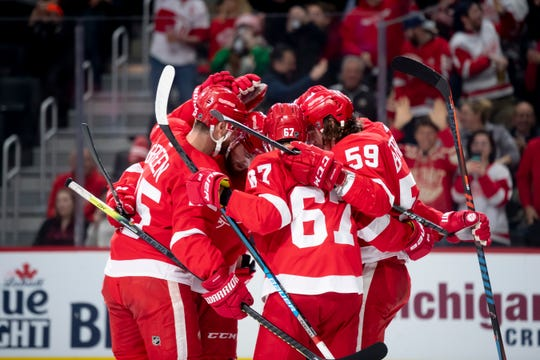 The Red Wings didn't get many chances to celebrate this past season.