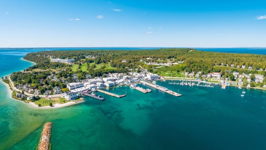 View of Mackinac Island prior to 2020.