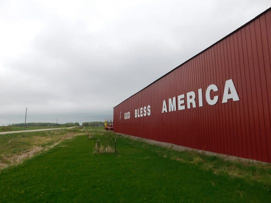 This large pole barn outside Pickford sends a message to all who wander off M-129 through town.