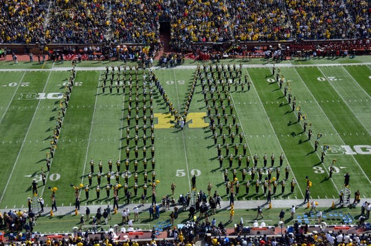 The Michigan Marching Band is a staple of the game-day experience at Michigan Stadium.