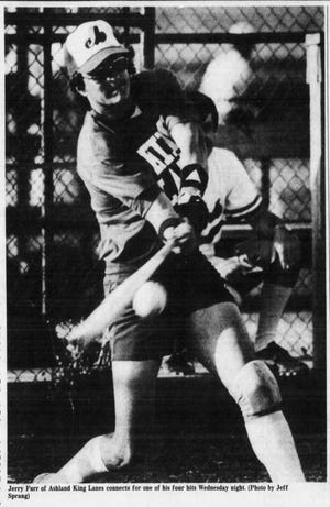 Jerry Furr ropes a line drive during a game at Cyclops Circle in the late '80s. He is the father of News Journal Sports Reporter Jake Furr.