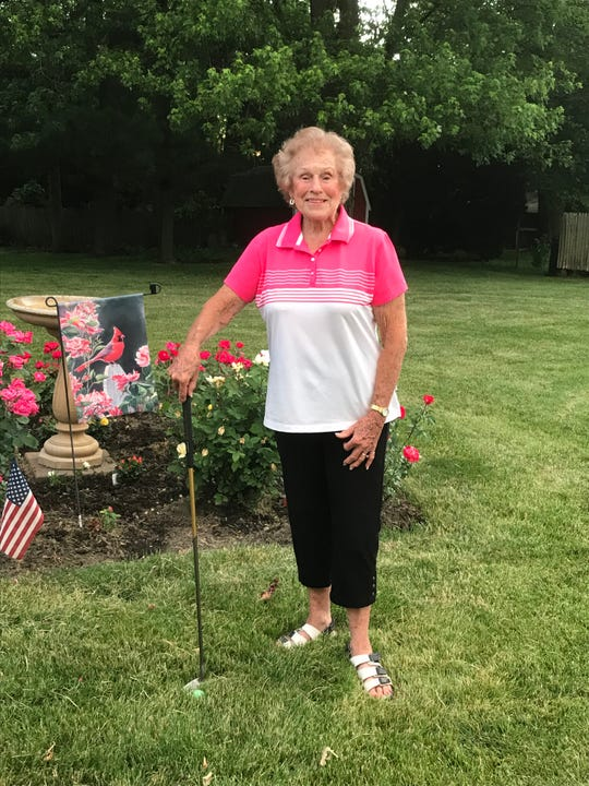 Helen Evans, 87, of Richwood, recorded her first ever hole in one at Green Acres, acing the 70-yard 11th hole.