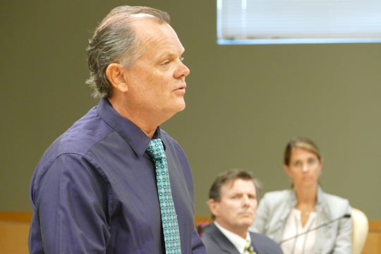 Chris Byrne,the city's emergency management coordinator, speaks during a Marco Island City Council meeting on June 15, 2020.