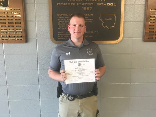 Izard County School Resource Officer James Norton recently completed the 542-hour Officer Training Program through Black River Technical College in Pocahontas. Norton is one of two SROs employed full-time by the Izard County School District. Norton is stationed at the elementary school at Violet Hill and SRO Brett Stevenson is stationed at the middle school and high school campus at Brockwell.