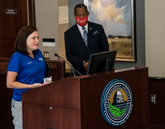EMA director Christina Thornton during a press conference at the Montgomery County Commission in Montgomery, Ala., on Tuesday, June 16, 2020.