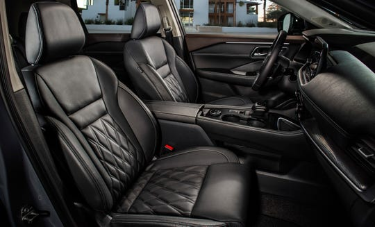 This photo provided by Nissan shows part of the interior of the 2021 Nissan Rogue.