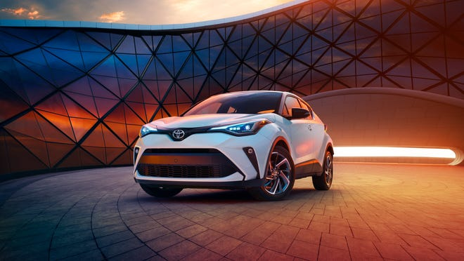 The 2020 Toyota C-HR Limited has a re-styled front fascia, LED lights and wheels for different trim levels.