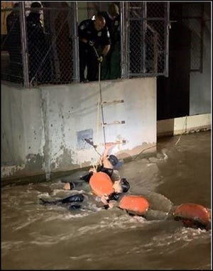 Three male teens were rescued by CBP officers and a Border Patrol agent from the fast-moving waters of the American Canal in El Paso.