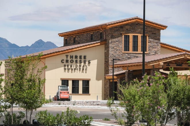 Three Crosses Regional Hospital nears completion in Las Cruces on Tuesday, June 16, 2020. The hospital would sit within the proposed Royal Crossing Tax Increment Development District