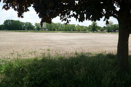 Some of the razed property where Livonia's former Adams Elementary once stood.