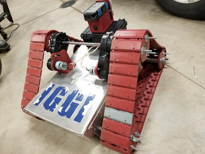 Rob Turner's class at Omro High School created a robot that goes onto questionable ice to test its thickness and limit the risk of people and vehicles falling through.
