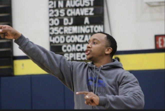 Sabino head coach James Jackson coaches during a game
