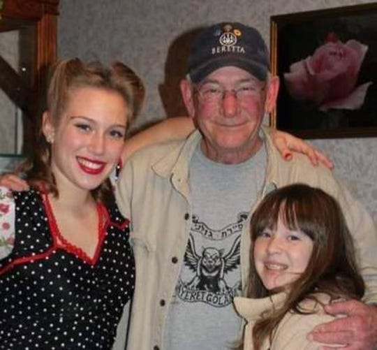 Dr. Michael Shier with granddaughters Claudia and Elise. Michael Shier died on June 14, 2020, at 74.