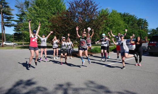 A group led by Christopher Regan and Fishkill resident Angela Legg ran an informal relay from Red Hook to Fishkill as a part of the One New York Challenge