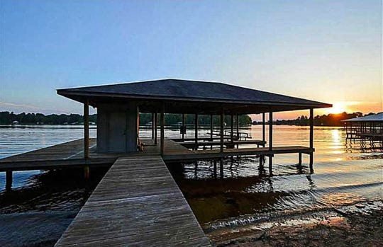 Enjoy breathtaking sunsets in the Black Bayou home.