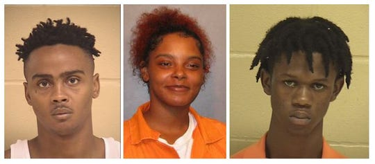 From left to right: Ricky Sanders, 26, Kiara Cruse, 26, and Damarrea Taylor, 18.