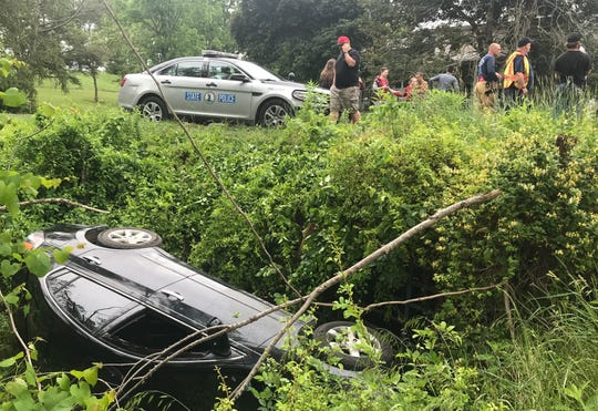 A driver lost control of her Nissan Altima on Tuesday afternoon.
