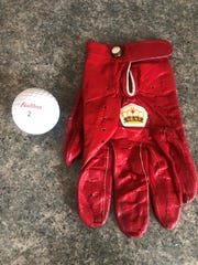 The glove and ball Lee Trevino gave to John Lieser in 1970.