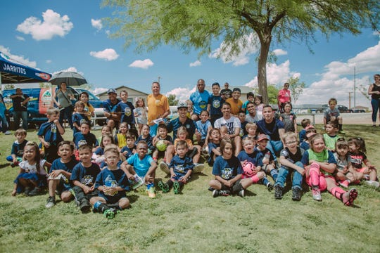 Local youth soccer players participate in a recent camp hosted by the El Paso Locomotive
