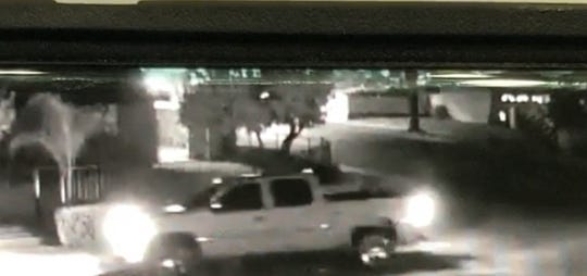 Fillmore Police Department said this photo was taken fromvideo surveillance footage that recorded an image of the pickup.