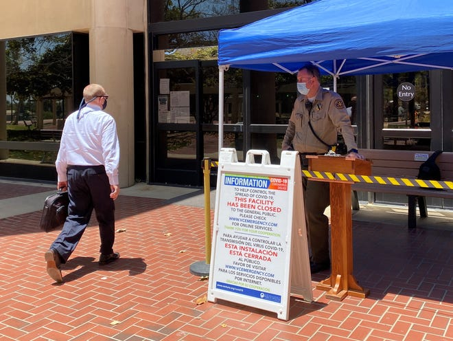 Ventura County Superior Court reopened with modified operations due to the coronavirus on Monday, June 15, 2020.