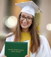 Madeline R. Fawcett, valedictorian, Our Lady of Mercy Academy