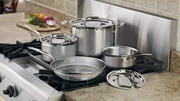We loved these stainless-steel pans in testing.