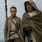 Rey receives Jedi training in The Last Jedi.