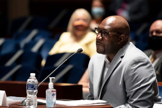 Philonise Floyd, a brother of George Floyd, testifies during a House Judiciary Committee hearing on proposed changes to police practices and accountability on Capitol Hill, Wednesday, June 10, 2020, in Washington.