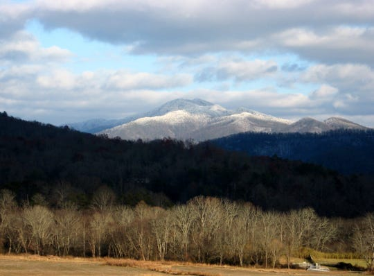 A winter view of Tusquitee and Potrock Balds from the Hiwassee River Valley in the Nantahala National Forest. The area is one that The Wilderness Society would like to receive special protections in the Nantahala and Pisgah National Forest Plan Revision.
