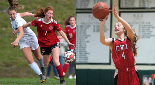 Catherine Gilwee of CVU has been named the Burlington Free Press girls athlete of the year for the 2019-20 school year.