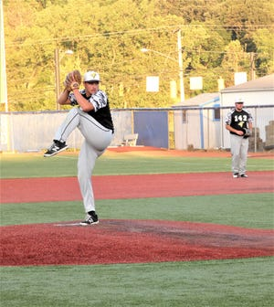 Waverly Post 142 pitcher Lane Mettler gets set to deliver a pitch against Lancaster Post 11 during last Friday's game. Post 142 has now won three games in a row and will travel to play in the Hillsboro Wood Bat Tournament  on Friday.