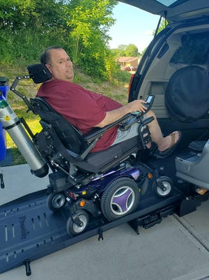 After a GoFundMe campaign raised more than $19,000, Pat Emery, an Elder High School grad who was diagnosed with ALS in March, had his wheelchair accessible van delivered on Monday, June 15, 2020.