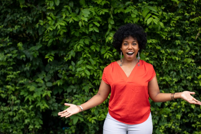 Candice Handy, creator of the Cincinnati Black Theatre Artist Collective poses for a photo in East Walnut Hills on Tuesday, June 16, 2020.