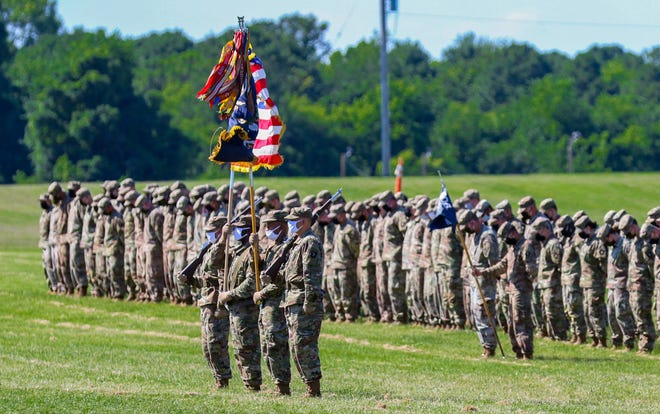 Approximately 230 Soldiers assigned to the 2nd Battalion, 506th Infantry Regiment, 3rd Brigade Combat Team, 101st Airborne Division (Air Assault) are recognized at Fort Campbell, Kentucky, June 11, following their 9-month deployment to multiple locations worldwide.