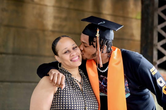 Linden High School graduates and their families submitted a range of celebratory snapshots to be included in the school's virtual commencement ceremony.