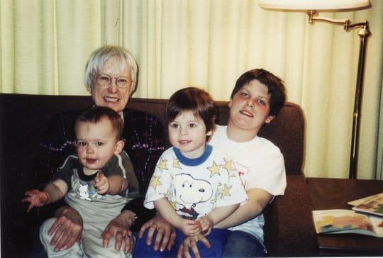 Margaret with her grandsons