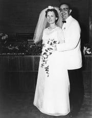 Margaret Wiedyke and Robert on wedding day