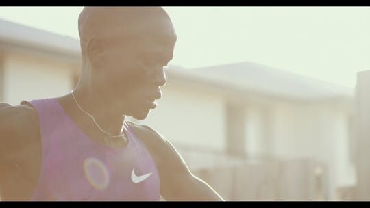"""""""Runner"""" tells the story of Guor Mading Maker (formally known as Guor Marial), who ran from captivity in war-torn Sudan to seek safety in the U.S. Maker joined his high school track and field team and eventually qualified for the 2012 Olympics."""