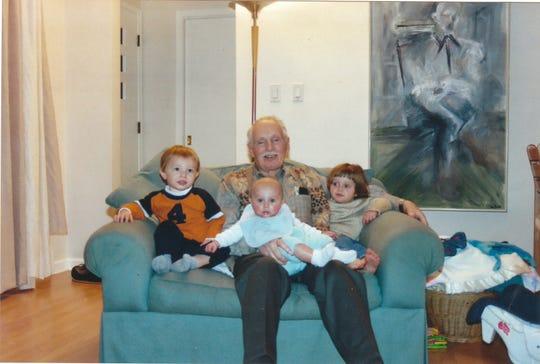 John (Jack) Collis with three of his grandchildren.