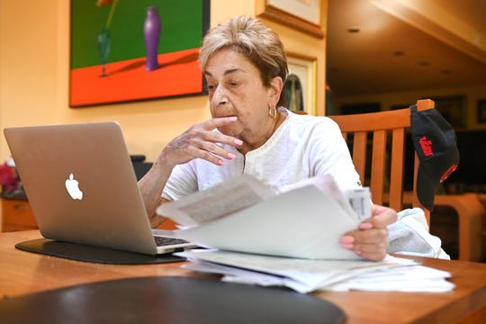 Marion Ginopolis, superintendent of Lake Orion Public Schools, continues working from her West Bloomfield home on Wednesday, June 17, 2020.  Marion Ginopolis started a 50 year career in education as a secretary in a Michigan school district and worked her way up to superintendent of Lake Orion Public Schools, where she will retire on June 30.