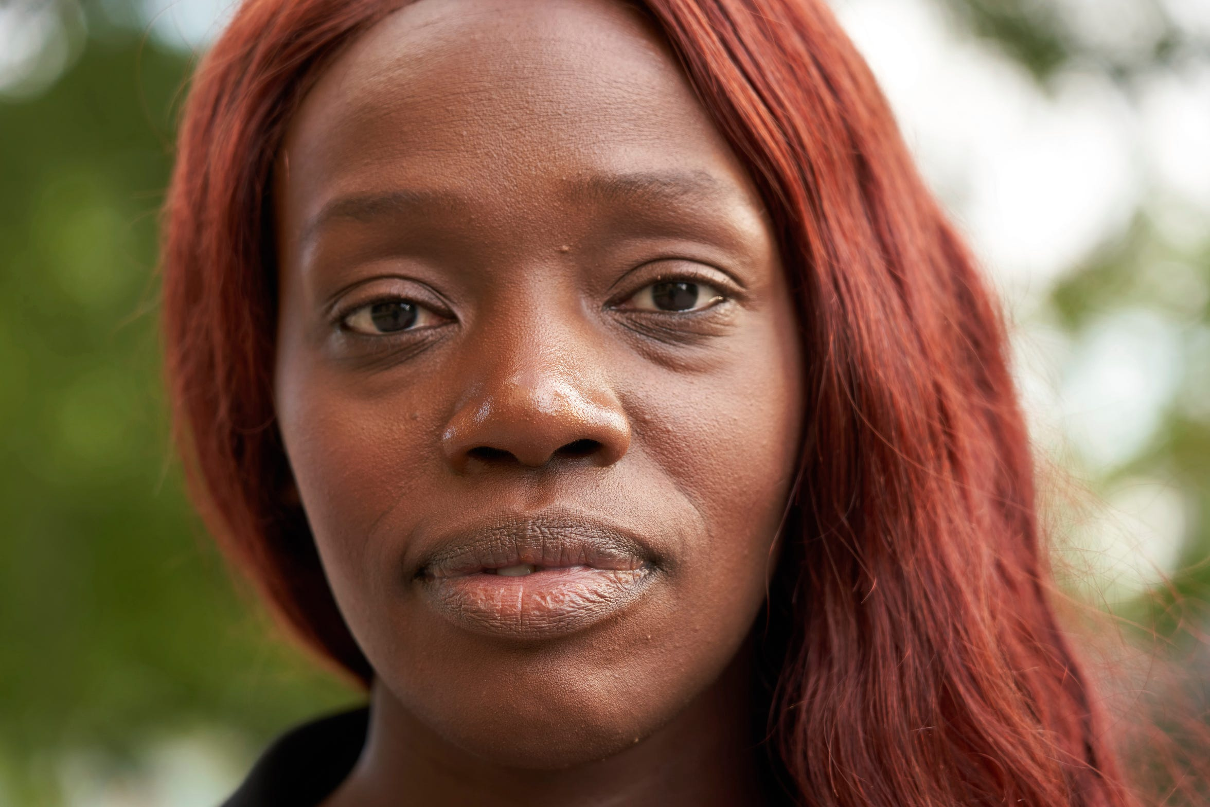 Aysha Jones stands for a portrait in Stockholm, Sweden on June 8, 2020. Born in Gambia, her experience with racism was that of a first-generation outsider - she remembers classmates throwing burnt Swedish meatballs at her, considering her worth nothing more.