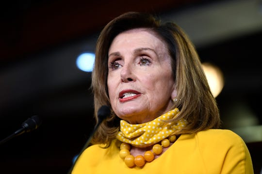 House Speaker Nancy Pelosi of Calif., speaks during a news conference on Capitol Hill in Washington, Thursday, June 11, 2020.