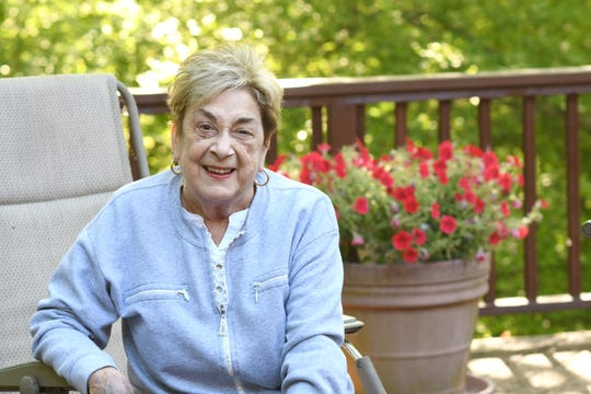 Marion Ginopolis, superintendent of Lake Orion Public Schools, relaxes at her West Bloomfield home on Wednesday, June 17, 2020.  Marion Ginopolis started a 50 year career in education as a secretary in a Michigan school district and worked her way up to superintendent of Lake Orion Public Schools, where she will retire on June 30.