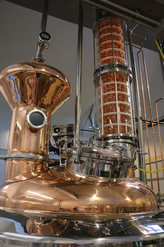 Curtis Basina distills spirits on-site at the Copper Crow Distillery in the Northwoods