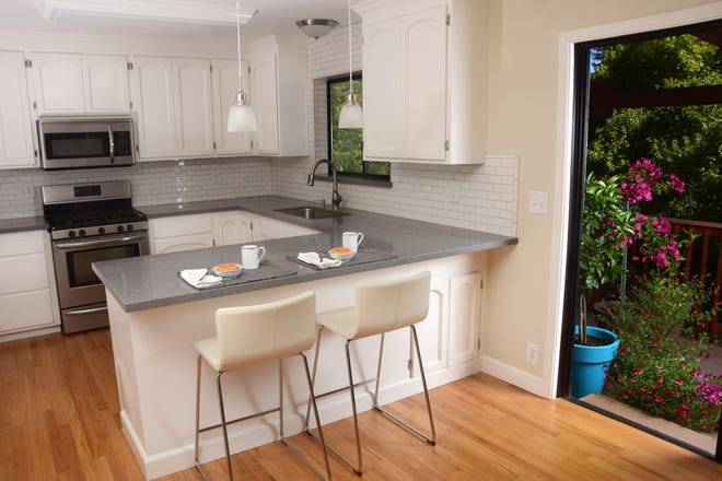 With small kitchens, it's important to be economical with every square foot of space.