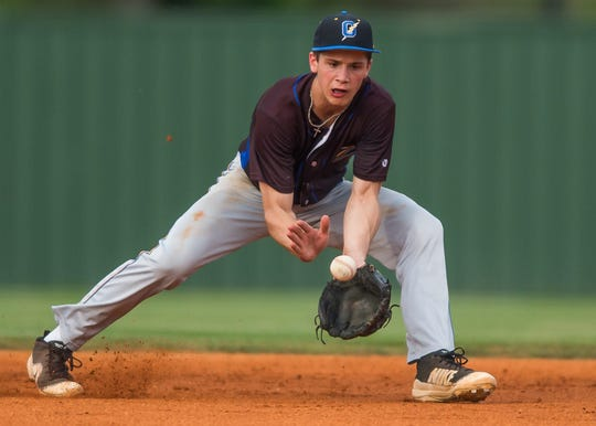Oxford (Mississippi) High's Sam Bianco, shown here in 2018, will compete to be a part of UL's new infield in 2018.