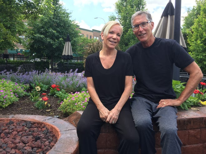 Fitness instructor Kelly Fletcher and her husband, Jeff Fletcher lost their Genoa Township fitness business KFit Studios due to COVID-19. The couple, shown at the beer garden at Brewery Becker in Brighton, Monday, June 15, 2020, says gyms should stay closed for public health reasons.